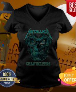 Top Skull Metallica Coastal Carolina Chanticleers V-neck