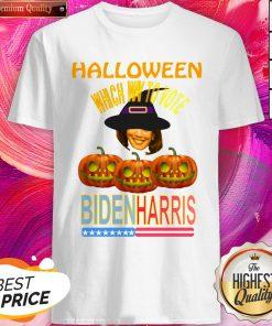 Which Way To Vote Biden Harris Funny Halloween Shirt