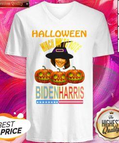 Which Way To Vote Biden Harris Funny Halloween V-neck