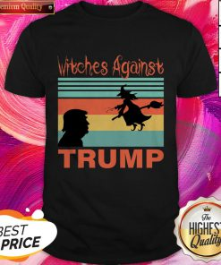 Women's Halloween Witches Against Trump 2020 Shirt