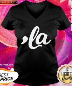Beautiful Comma La Kamala Harris Funny V-neck - Design By Thelasttees.com