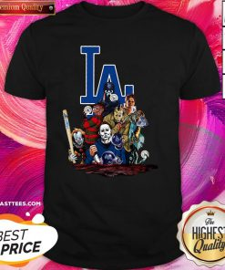Beautiful Horror Movies Characters Los Angeles Dodgers 2020 World Series Champions Shirt - Design By Thelasttees.com
