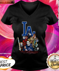 Beautiful Horror Movies Characters Los Angeles Dodgers 2020 World Series Champions V-neck - Design By Thelasttees.com