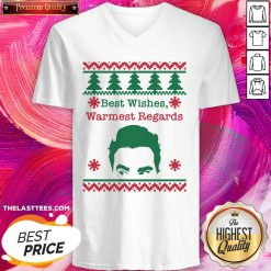Cute Best Wishes Warmest Regards David Ugly Christmas V-neck - Design By Thelasttees.com