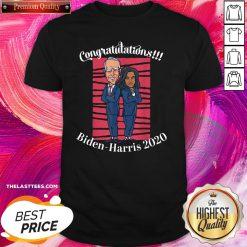 Cute Congratulations President Joe Biden Harris 2020 Shirt - Design By Thelasttees.com