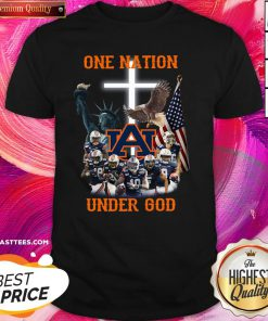 Funny Auburn Tigers One Nation Under God Shirt - Design By Thelasttees.com