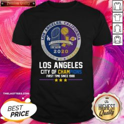 Funny Los Angeles California Lakers Dodgers Los Angeles City Of Champions First Time Since 1988 Shirt - Design By Thelasttees.com