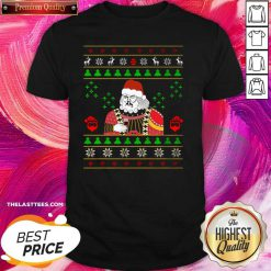 Happy Santa Claus Leonardo Big Fat Jumper Quarantined Christmas 2020 Pandemic Meme Ugly Christmas Shirt - Design By Thelasttees.com
