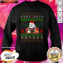 Happy Santa Claus Leonardo Big Fat Jumper Quarantined Christmas 2020 Pandemic Meme Ugly Christmas Sweatshirt - Design By Thelasttees.com