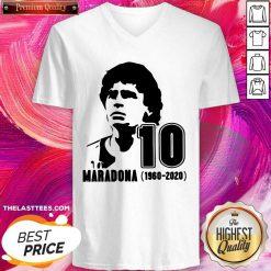 Diego Maradona 10 Rest In Peace Maradona 1960 2020 V-neck - Design By Thelasttees.com