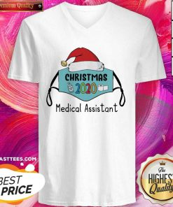 Mask Santa 2020 Anti Covid 19 Merry Christmas 2020 Medical Assistant V-neck - Design By Thelasttees.com