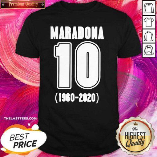Diego Maradona 10 1960 2020 Rest In Piece Maradona Shirt - Design By Thelasttees.com