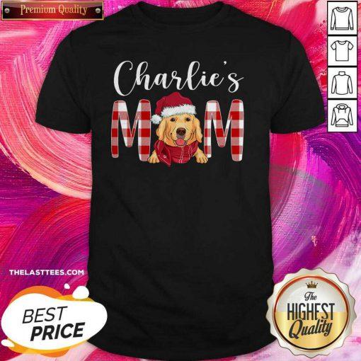 Perfect Golden Retriever Charlie's Mom Christmas Shirt - Design By Thelasttees.com