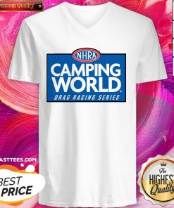 Premium NHRA Camping World Drag Racing Series V-neck - Design By Thelasttees.com