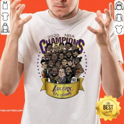 Top 2020 NBA Champions Los Angeles Lakers 17 Champs Cartoon Shirt - Design By Thelasttees.com