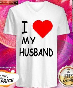 I Love My Husband V-neck - Design By Thelasttees.com
