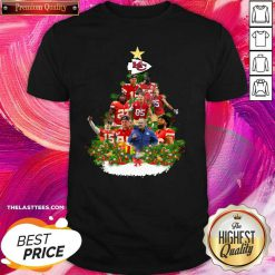 Kansas City Chiefs Players Christmas Tree Shirt - Design By Thelasttees.com