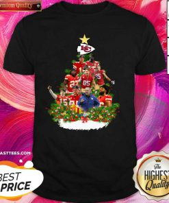 Kansas City Chiefs Players Christmas Tree Shirt - Design By Thelasttees.com