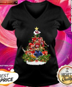 Kansas City Chiefs Players Christmas Tree V-neck - Design By Thelasttees.com