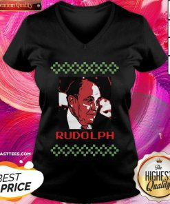 Rudolph Ugly Merry Christmas V-neck - Design By Thelasttees.com