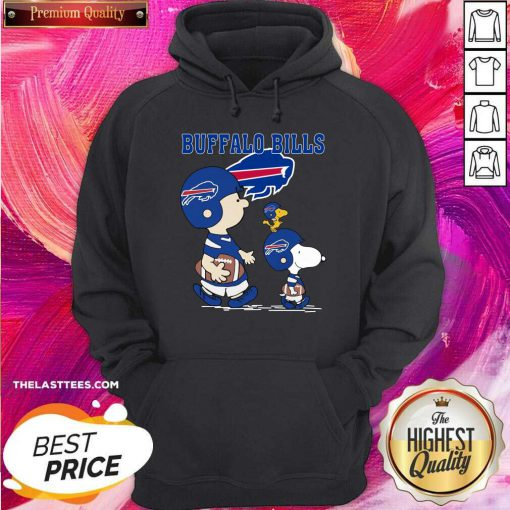 Snoopy and Woodstock and Charlie Brown Buffalo Bills Hoodie - Design By Thelasttees.com