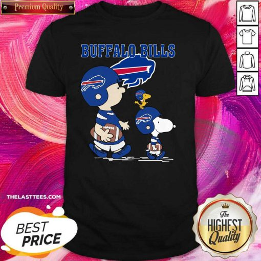 Snoopy and Woodstock and Charlie Brown Buffalo Bills Shirt - Design By Thelasttees.com