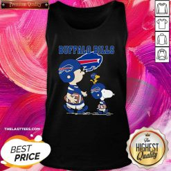 Snoopy and Woodstock and Charlie Brown Buffalo Bills Tank Top - Design By Thelasttees.com