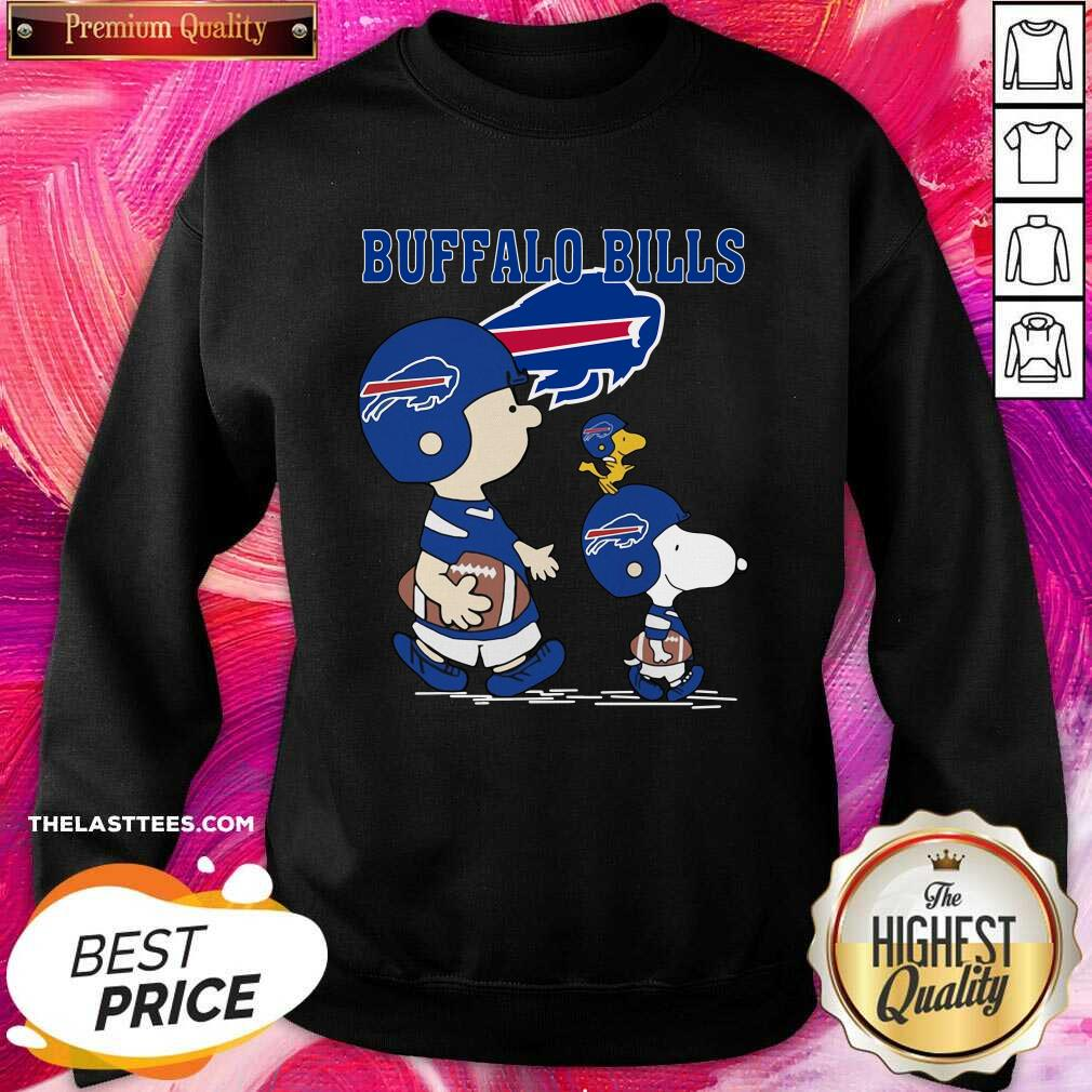 Snoopy and Woodstock and Charlie Brown Buffalo Bills Sweatshirt - Design By Thelasttees.com
