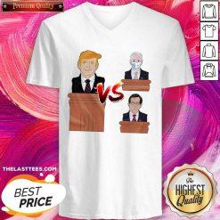 Donald Trump Vs Joe Biden V-neck - Design By Thelasttees.com