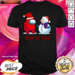 Red Is Sus Among Us Christmas Game Among Us Xmax Shirt - Design By Thelasttees.com