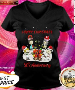 Christmas Queen 50th Anniversary Christmas V-neck - Design By Thelasttees.com