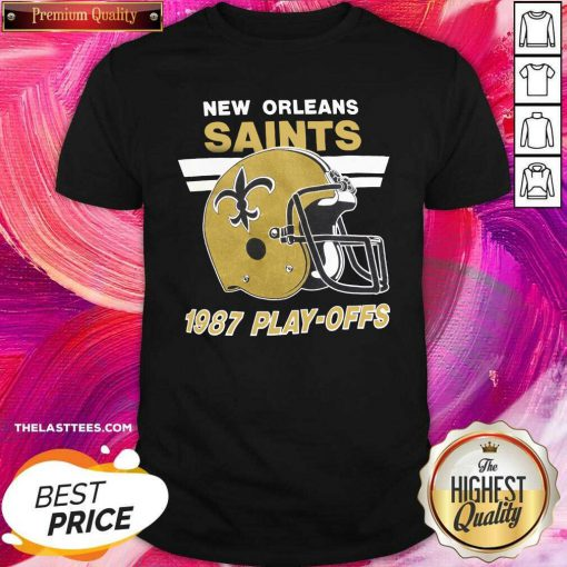 Helmet New Orleans Saints 1987 Play Offs Shirt - Design By Thelasttees.com
