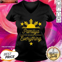 Pamilya over Everything Filipino V-neck - Design By Thelasttees.com