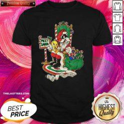 Meet Santa Merry Christmas Shirt - Design By Thelasttees.com