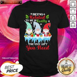 Gnomes Being Related To Me Is Really The Only Gift You Need Merry Christmas Shirt - Design By Thelasttees.com