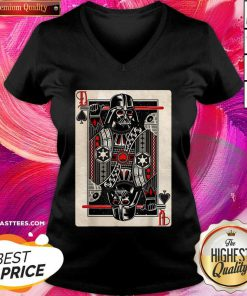 Star Wars Darth Vader King Of Spades Graphic V-neck - Design By Thelasttees.com