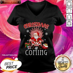 Santa Claus Christmas Is Coming V-neck - Design By Thelasttees.com