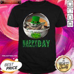Baby Yoda Happy St Patricks Days Shirt - Design By Thelasttees.com