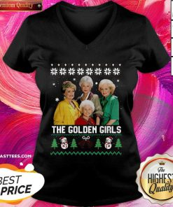 The Golden Girls Ugly Merry Christmas V-neck - Design By Thelasttees.com