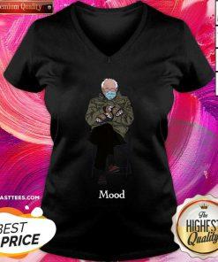 Vip Bernie Inauguration Mittens Meme #Mood2021 V-neck