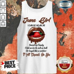 Lips Strawberry June Girl All Depend On You Tank-Top