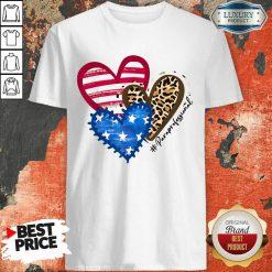 American Flag Hearts Paraprofessional Shirt