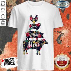 Cluck Baaa Vink Moo Farm Animals Shirt