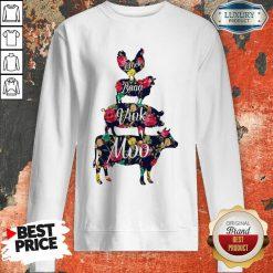Cluck Baaa Vink Moo Farm Animals Sweatshirt