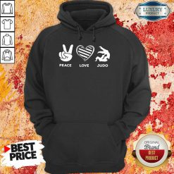Hot Peace Love And Judo Hoodie