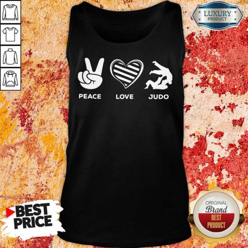 Hot Peace Love And Judo Tank-Top