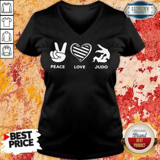Hot Peace Love And Judo V-neck
