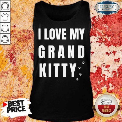 I Love My Grand Kitty Tank-Top