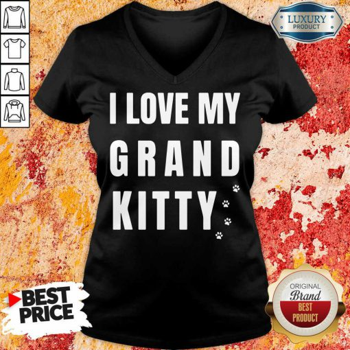 I Love My Grand Kitty V-neck