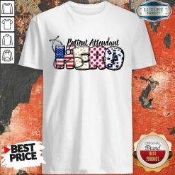 Patient Attendant Medical Stethoscope Nurse Hero American Flag Shirt